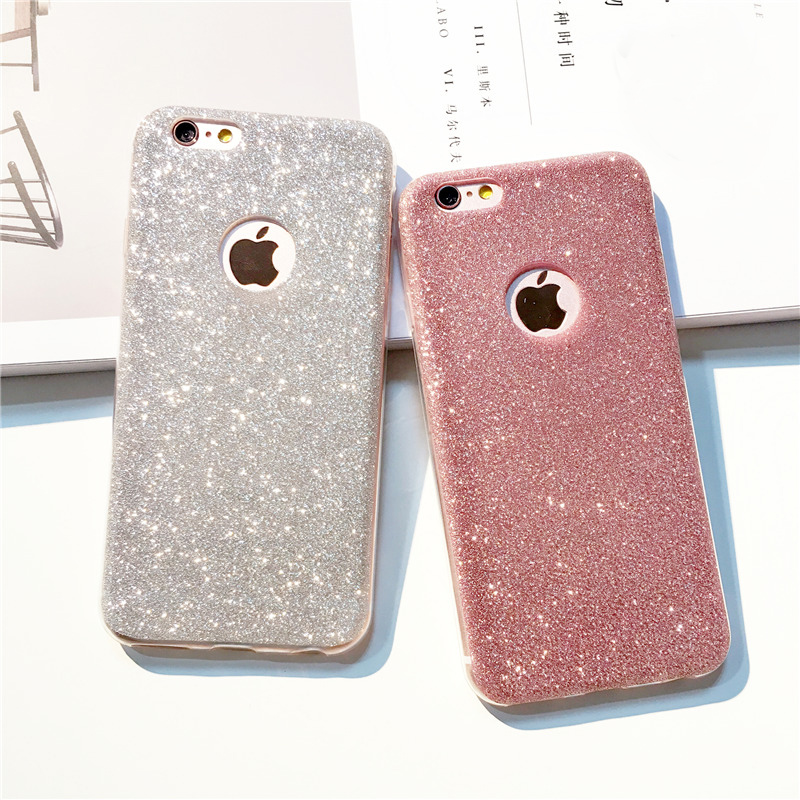 i7 7Plus UltraThin Glitter Bling Back Skin Cover for iPhone Crystal Soft Gel TPU Case for iPhone 5S 5 6 6s plus 7Plus Phone Case