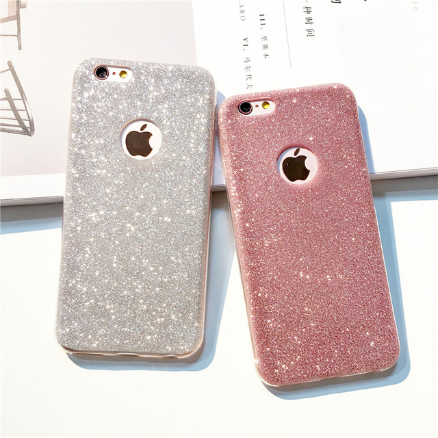 huge selection of adf66 f12b6 US $1.43 28% OFF|i7 7Plus UltraThin Glitter Bling Back Skin Cover for  iPhone Crystal Soft Gel TPU Case for iPhone 5S 5 6 6s XS XR 7 8 Phone  Case-in ...