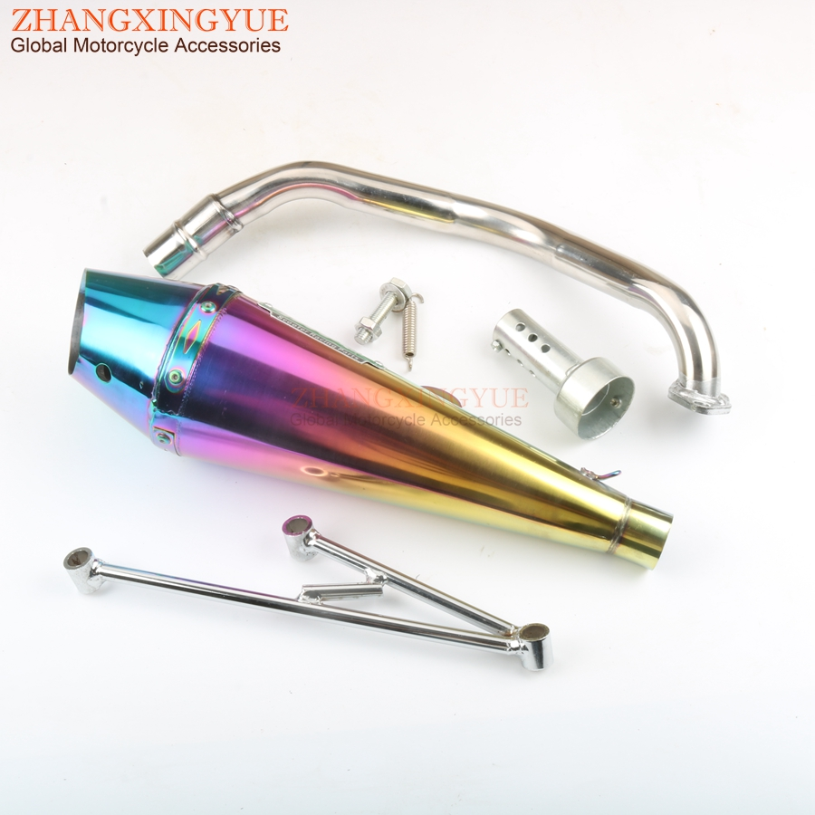 Scooter Performance <font><b>Exhaust</b></font> <font><b>System</b></font> GY6 125cc <font><b>150cc</b></font> 152QMI 157QMJ Chinese Scooter Parts image