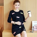Maternity Clothes Autumn New Arrival Dresses for Pregnant Women Fashion Black Cartoon Loose Casual Plus Size Pregnancy Dress
