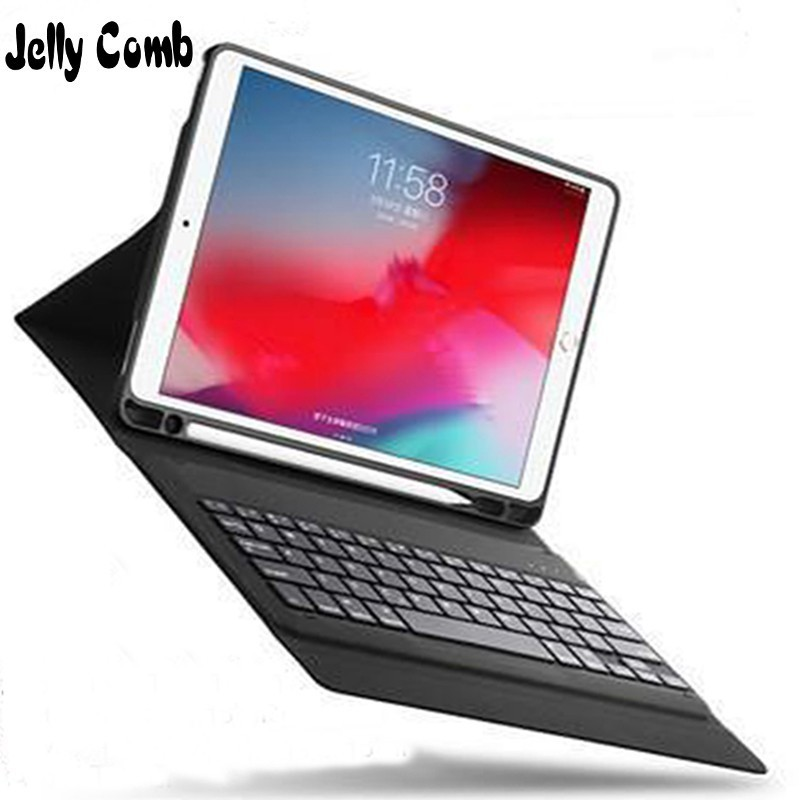 Jelly Comb Bluetooth Wireless Keyboard For Apple IPad 9.7 2017 2018 5th 6th Generation Flip Leather Case Smart Magnetic Cover