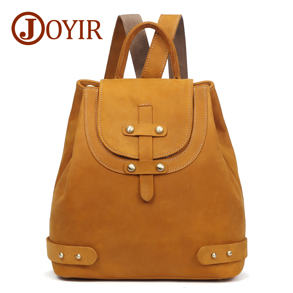 JOYIR Backpack Female Genuine Leather Backpacks For Women School Bag Travel Backpack Women Leather Backpack For Girls Mochila backpack female genuine leather women backpacks school bag plaid strip multifunctional cow leather travel backpacks lf15833