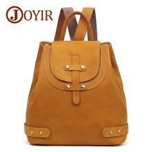 JOYIR Backpack Female Genuine Leather Backpacks For Women School Bag Travel Girls Mochila