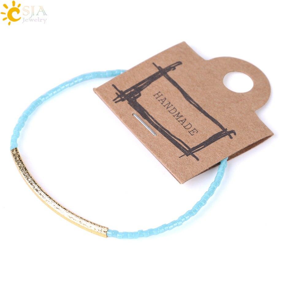 Elastic Beaded Bracelet Delica Bead Mini Bead Cute Chic Jewelry Armband S136