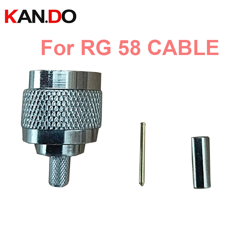 5pcs Telcom Coaxial Cable N Connector For 75-3 CATV Cable Connector RG58 Cable N Male Connector For RG 58 Cable Terminal