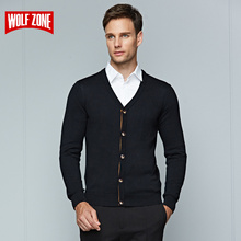 2017 Winter Sweater Men for Cutton Brand Clothing Long Sleeve Fashion Cardigans Mens Business Casual Knitting V-neck Sweaters
