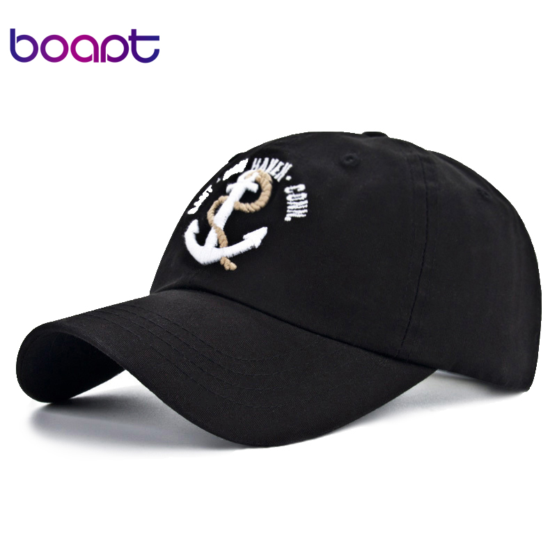 [boapt] ferry anchor embroidery dad hat casual male snapback cap cotton casquette summer women's baseball caps for men sun hats fashion cotton baseball cap women vintage anchor snapback hat for men casual patch dad cap summer trucker hat casquette bones