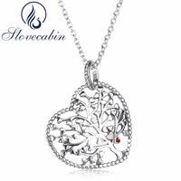 Slovecabin Gioielli Luxury Brand Classic 925 Sterling Silver Heart Family Tree Pendenti Del Choker Collane Per Le Donne Regalo Di Natale