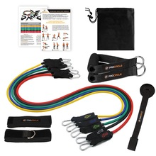 Procircle Resistance Band Set - 11 stk Expander Tubes Gummi Band For Modstand Træning, Fysioterapi, Home Fitness Workout
