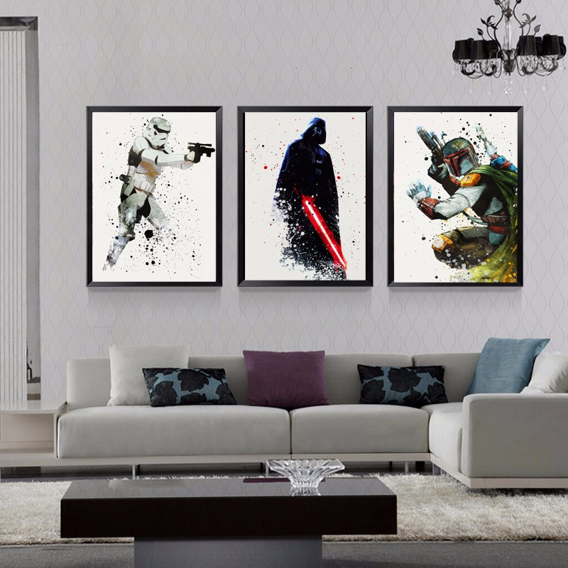 Animation cartoon comic abstract figure painting movie poster warrior soldier best home wall decoration oil canvas printings