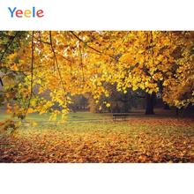 Yeele Autumn Fallen Leaves Forest Park Grunge Decor Photography Backdrops Personalized Photographic Backgrounds For Photo Studio цена