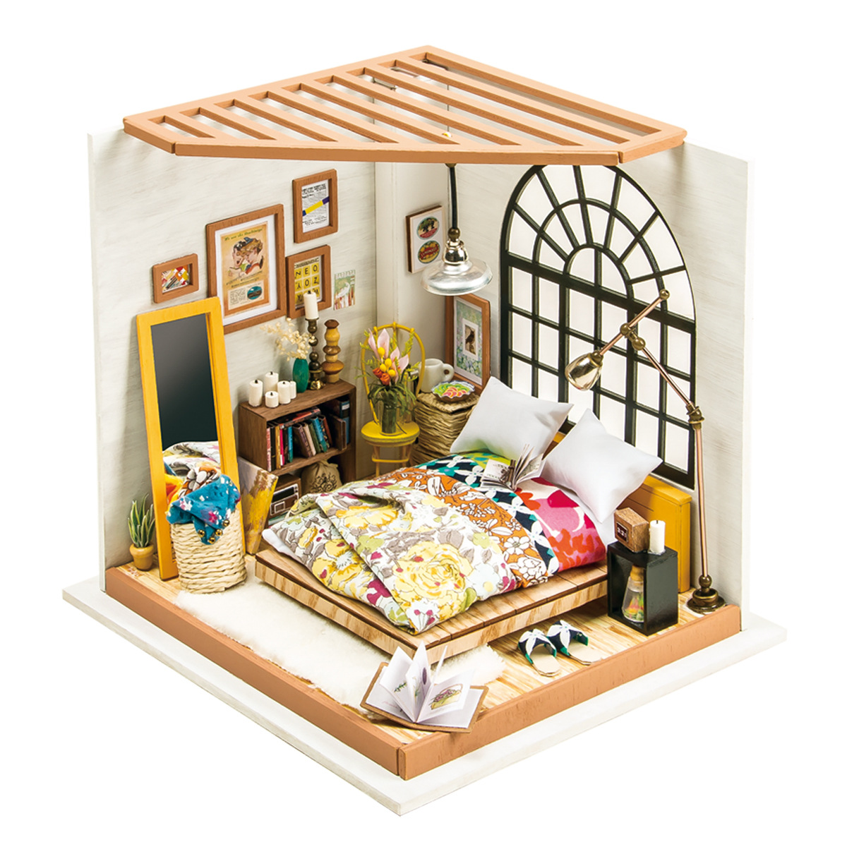 DIY Dollhouse Kit-Alices Dreamy Bedroom with Furniture Adult Children Model Building Miniature Doll House Kits Toys R8DIY Dollhouse Kit-Alices Dreamy Bedroom with Furniture Adult Children Model Building Miniature Doll House Kits Toys R8