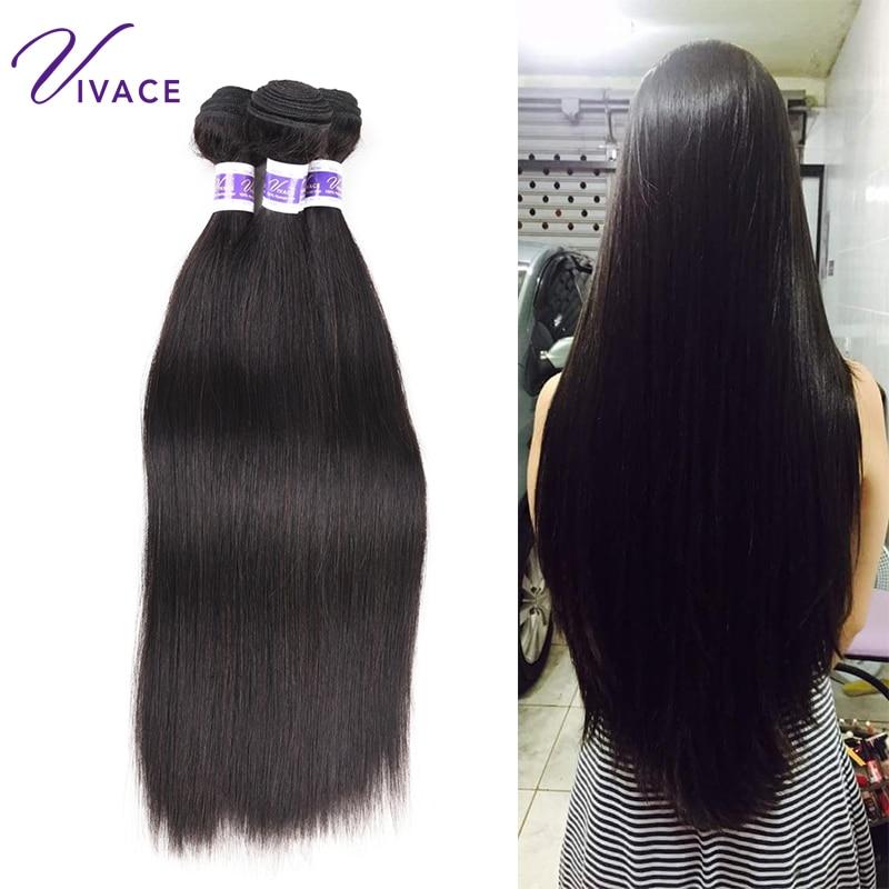 Vivace Hair Straight 3 Bundles Deal 10-28inch Μαλλιά - Ανθρώπινα μαλλιά (για μαύρο) - Φωτογραφία 1