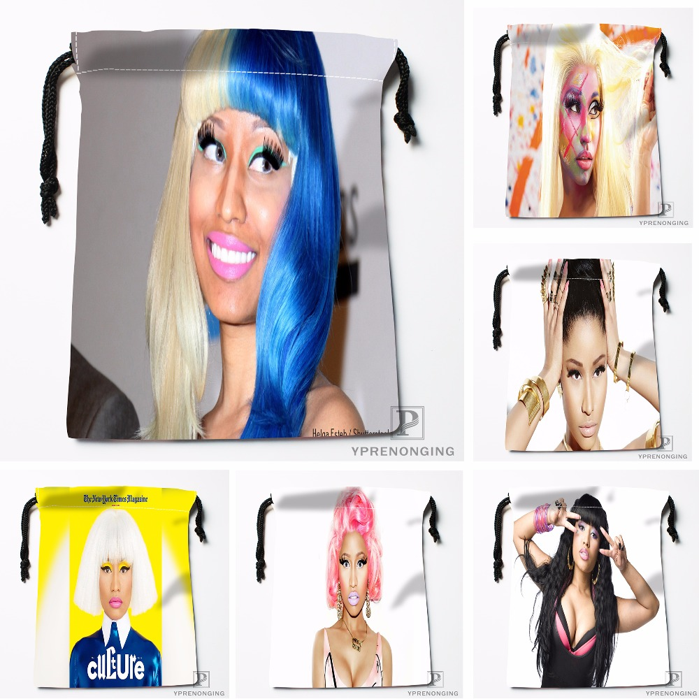 Custom Nicki Minaj Drawstring Bags Printing Travel Storage Mini Pouch Swim Hiking Toy Bag Size 18x22cm#180412-11-26
