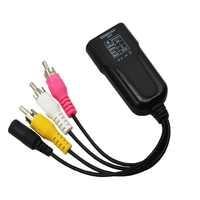 HDMI a 3RCA compuesto AV/CVBS Video convertidor de Audio HDMI2AV adaptador soporte NTSC/PAL para VCR PS4 Cámara DVD