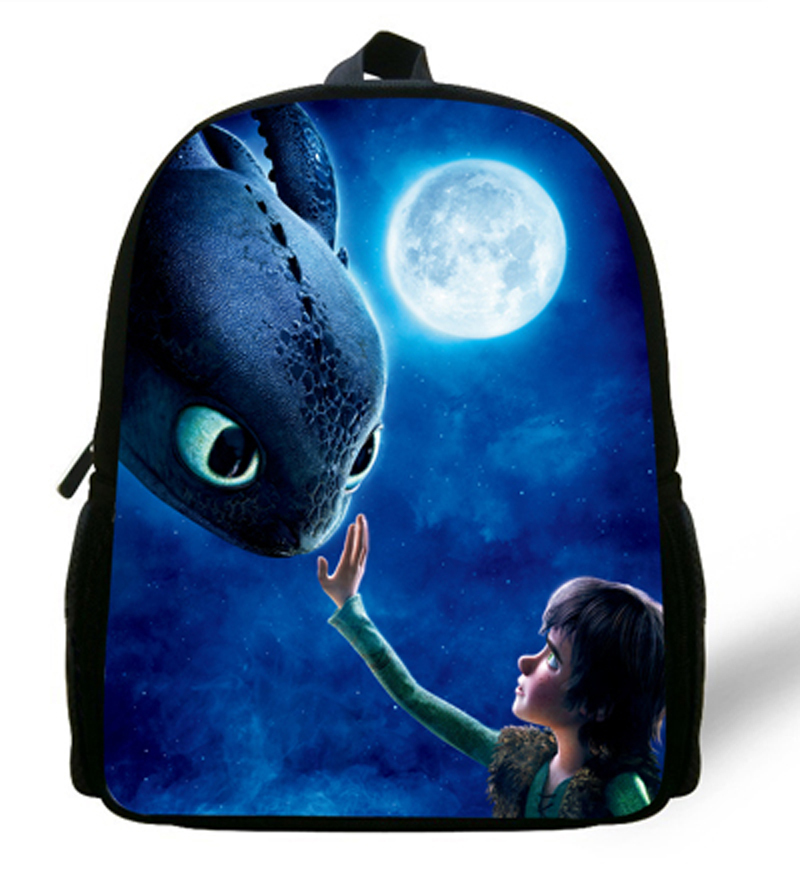 12inch Mochila Infantil Menino Little Boys Bag Kids Backpack How To Train Your Dragon Bag For Age 1-6 Children School Bags Girls