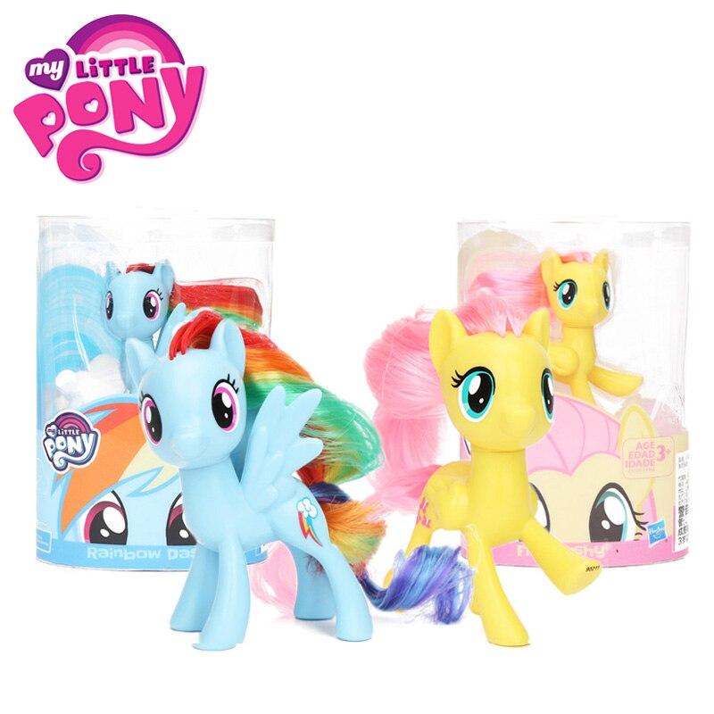 My Little Pony Spielzeug Rainbow Dash Twilight Sparkle Pinkie Pie Fluttershy PVC Action Figure Sammlung Modell Puppe