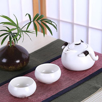 Hot Sale Portable 3 Pieces Travel Quik Cup Chinese Tradional Kung Fu Tea Set One Teapot