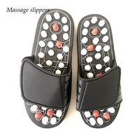 Foot Massage Slippers For Men Women Health Shoe Sandal Reflex Stress Rotating Acupuncture Feet Healthy Massager