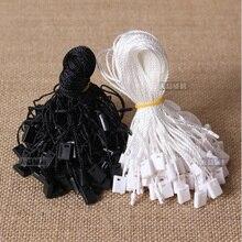 1000 шт./лот, высокое качество, черный/белый цвет, водонепроницаемые Висячие/уплотнительные бирки для одежды/обуви/сумок/домашнего текстиля/одежды