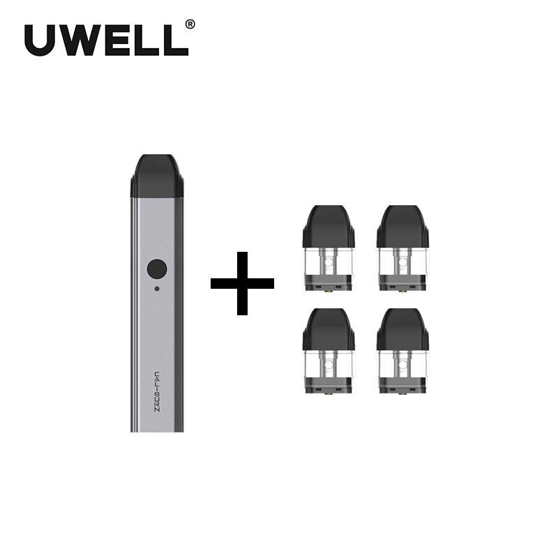 ¡En Stock! Kit de sistema portátil UWELL Caliburn y 1 paquete de cartucho rellenable de 2 ml kit de - 3