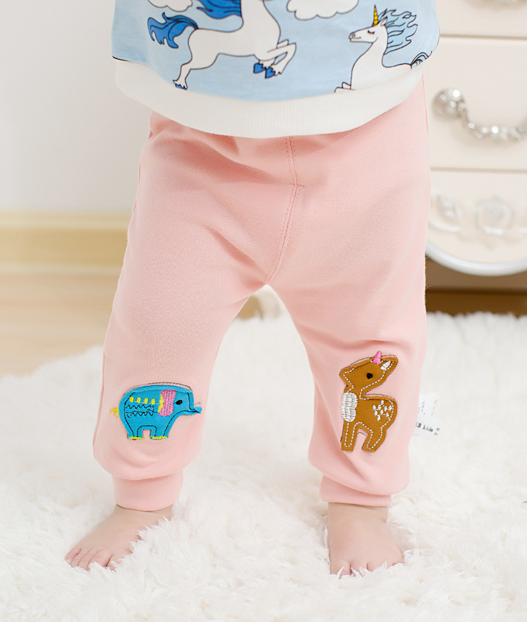 Casual Toddler Trousers Baby Bottoms Pants Infant Boys Girls Cartoon Cute elephant deer sports Pants baby clothes drop shipping (13)
