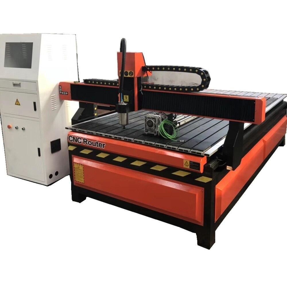 China Jinan 1200*1800mm madera 1218 kW/2 2kw husillo 4 ejes 3D cnc enrutador