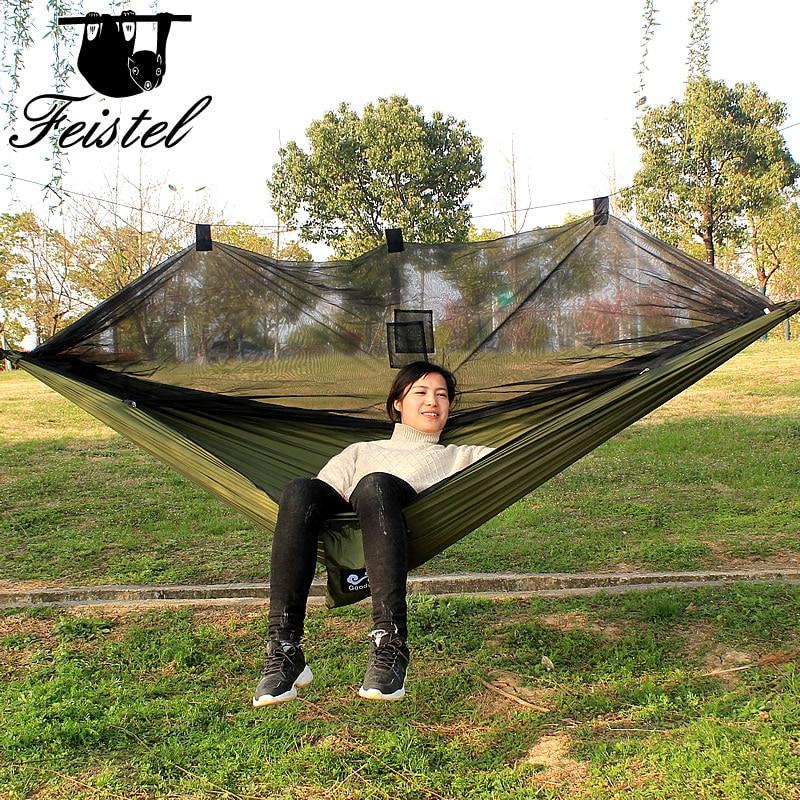 Double person parachute cloth portable camping mosquito nets hammock garden hammock swingDouble person parachute cloth portable camping mosquito nets hammock garden hammock swing
