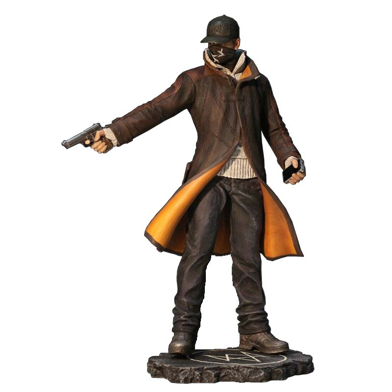 Watch Dogs Aiden Pearce PVC Action Figure Model Toy Gift 24cm new hot christmas gift 21inch 52cm bearbrick be rbrick fashion toy pvc action figure collectible model toy decoration