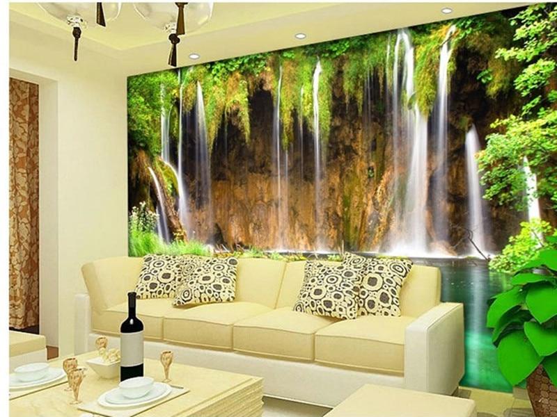 Tv grande mural papel de parede 3d papel de parede plano for Pintura decorativa efeito 3d