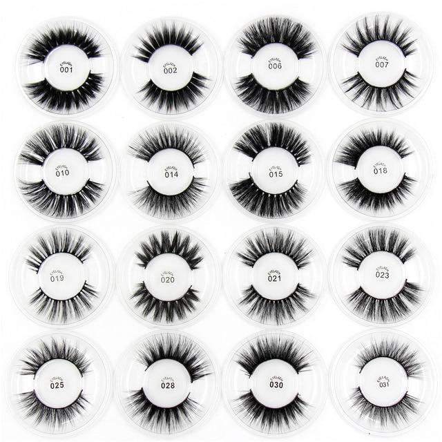 LEHUAMAO 3D Silk Protein Mink Lashes 3D Mink False Eyelashes Long Lasting Lashes Natural Mink Eyelashes mink Makeup False Eyelas