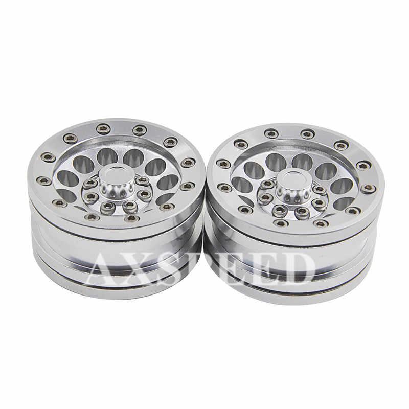 4 stks RC 1:10 Wiel Beadlock Lichtmetalen 1.9 ''Metalen Velgen Wiel Rock Wiel Crawler Hub Voor SCX10 AX- 10 CC01 1/10 RC Truck Crawler