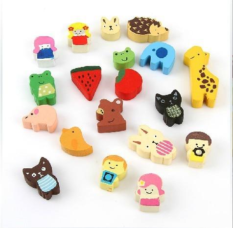 wholesale 19pcs lot baby infant toddlers toys cartoon animal fridge