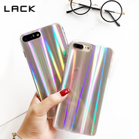 LACK Colorful Phone Case For iPhone 7 Cool Laser Rainbow Shining Case For iphone 7 6 6s Plus Soft TPU Back Cover Bags Coque Capa