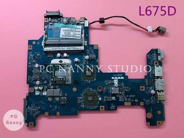 El envío libre de procesador placa base placa madre del ordenador portátil para toshiba l670d l675d la-6053p k000103970 s1 ddr3 ati mobility radeon hd4200