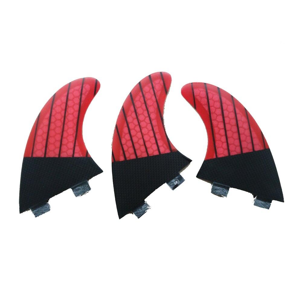 Prancha quilhas de доски для серфинга Fin стекловолокно FCS ласты красный G5 углеродного волокна Fin вафельная G5/G3 Surf Quilla Surf ФТС Плавники