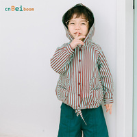 Kids Coats Girl Boy 2018 New Spring Autumn Children Fashion Striped Girls Boys Hooded Jackets 2