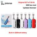 Nueva caja de cigarrillos electrónicos mod et ect 50 kit 50 w e cig 2.5 ml Nuevo control de flujo de aire 2200 mah atomizador cigarrillo electrónico kit et50