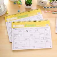 Korean Kawaii Stationery Memorandum Efficiency Manual Coil Spiral Monthly Planner Cute Schedule Book Notebook