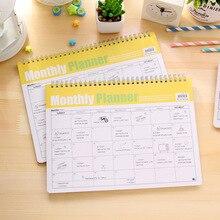 корейский меморандум по спирали ежемесячно планировщик мило эффективности – график книгу каваий канцелярских ноутбук блокнот