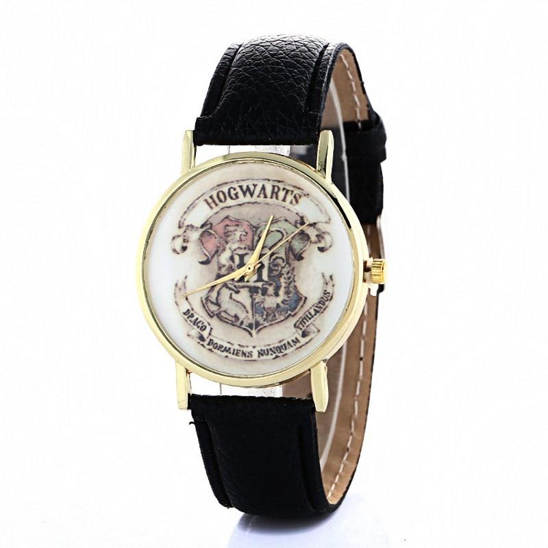 New Hogwarts School Design Magic School Watch Hogwarts Magic Pattern Badges Leather Watch Unisex Watch Relojes Montres Kol Saati