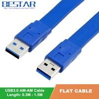 0 3M 0 6M 1M 1 5M Blue Double USB 3 0 A TYPE Male Plug