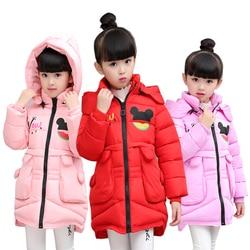 2016 children outerwear baby girls cotton Hooded coats Winter Jacket Kids Coat children's winter clothing Girls Down & Parkas