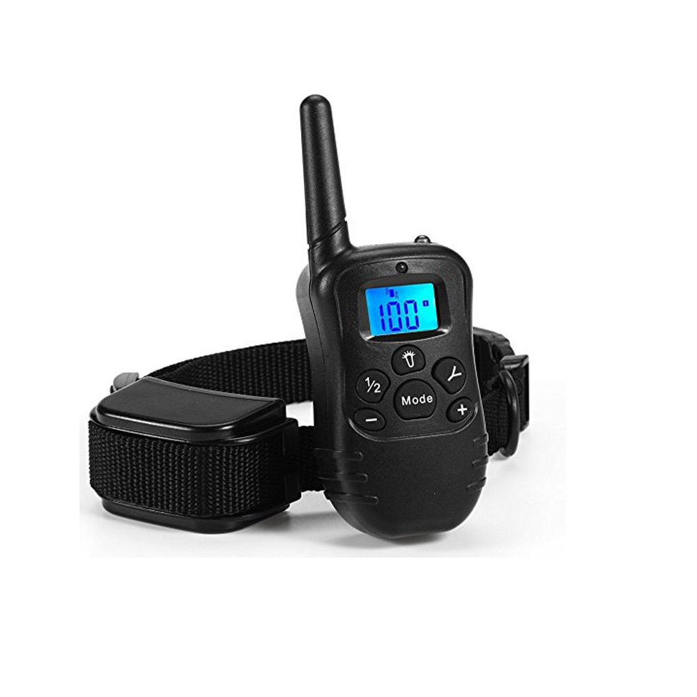 Dog Electric Shock Vibration Collars Behavioral Training Collar For Dogs 100 Levels Waterproof Remote Control Device Charging