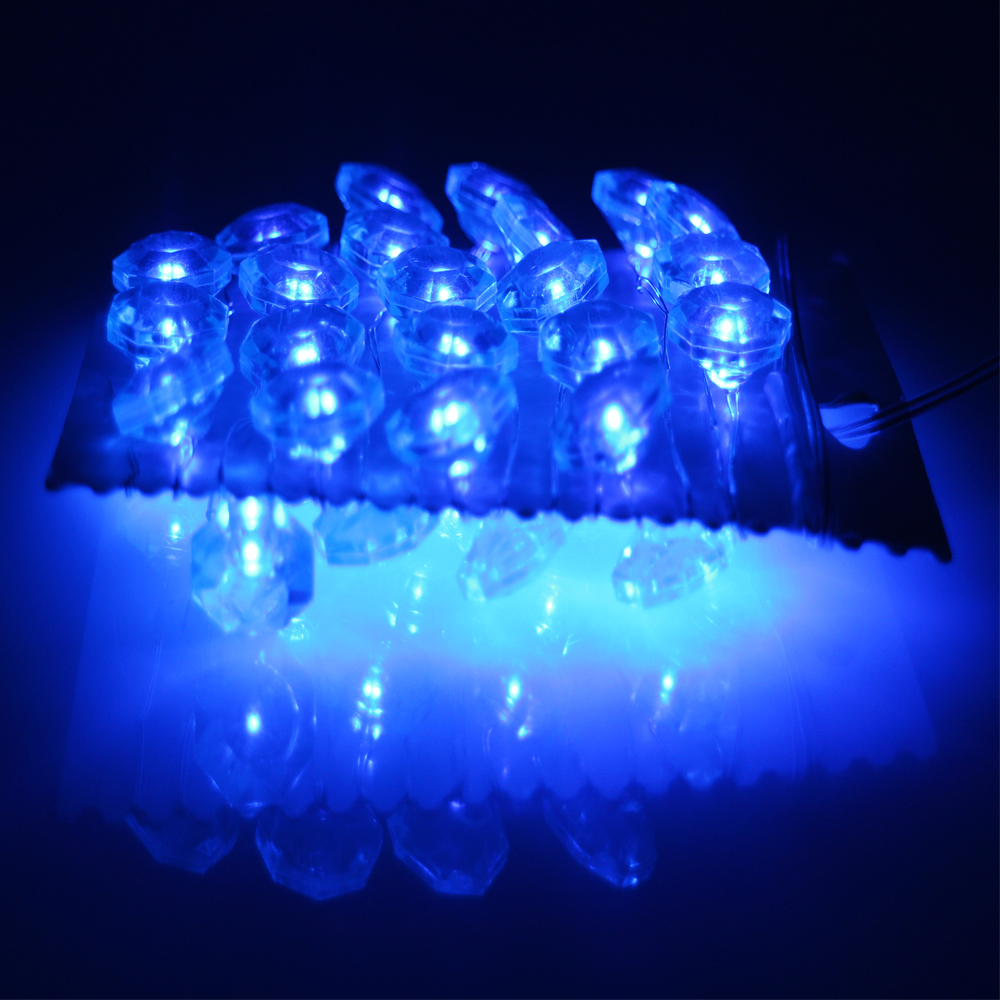 Battery Operated 3M 10FT 40LED Sapphire Shape LED String Lights Fairy lights Decoration Indoor Outdoor Lights with Remote