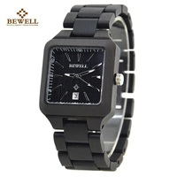 BEWELL 110A Wood watch Men Relogio Mens Watches Top Brand Luxury Men Simple Role Luxury Watch Men Analog Digital Wristwatches