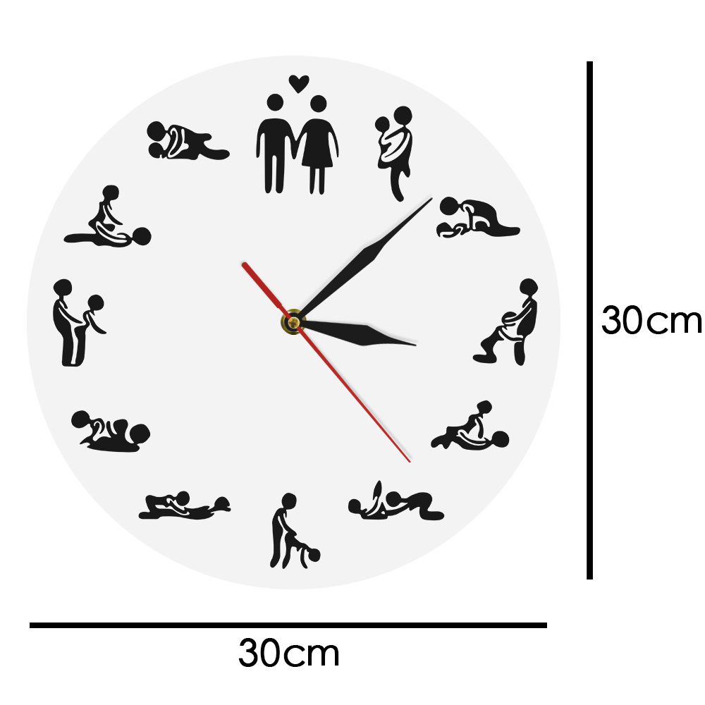 1piece Kama Sutra Sex Position Clock 24hours Sex Clock Novelty Wall Clock Make Love Clock Wedding Gift Sale Price Home & Garden Home Decor