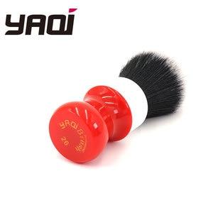 Image 2 - Pennello da barba Yaqi 26mm, versione bianca, rigida, con nodo smoking