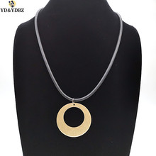 YD&YDBZ 2019 New Fashion Round Pendant & Necklaces Women Jewelery Accessories Handmade Leather Chains Harajuku Gothic Style Gift