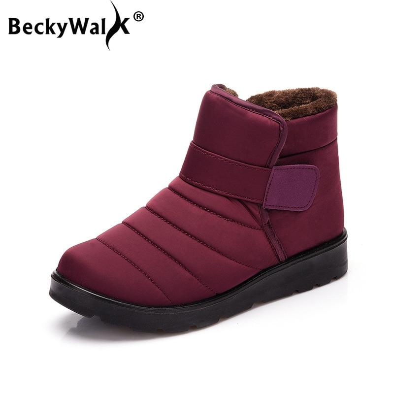 Donne stivali da neve donne stivali per le scarpe inverno donna più il formato botas mujer impermeabile peluche unisex caviglia dimensioni stivali 35 -46 WSH3140